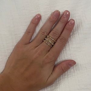 Kendra Scott Gold stackable rings